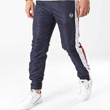 Sergio Tacchini - Pantalon Jogging A Bandes Ansley 39169 Bleu Marine