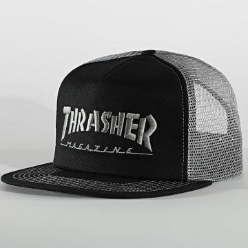 Thrasher - Casquette Trucker Logo Mesh Noir