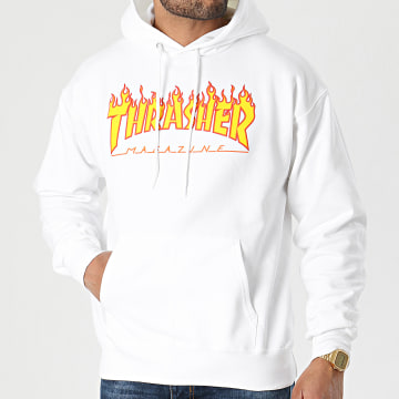 Thrasher - Sweat Capuche THRSW071 Blanc