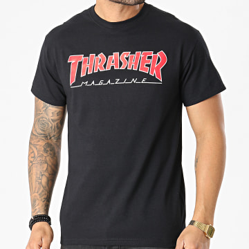 Thrasher - Tee Shirt Outlined THRTS069 Noir
