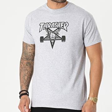 Thrasher - Tee Shirt Skate Goat THRTS025 Gris Chiné