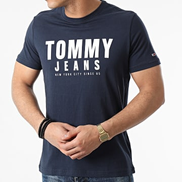 Tommy Jeans - Tee Shirt Center Chest Graphic 0243 Bleu Marine
