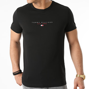 Tommy Hilfiger - Tee Shirt Essential Tommy 7676 Noir
