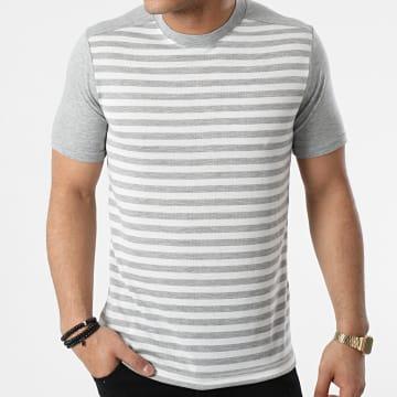 Armita - Tee Shirt A Rayures TC-564 Gris Blanc