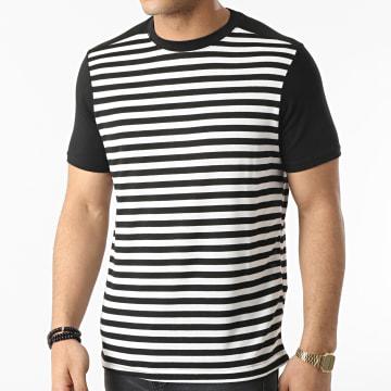 Armita - Tee Shirt A Rayures TC-564 Noir Blanc