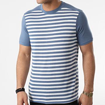 Armita - Tee Shirt A Rayures TC-564 Bleu Blanc