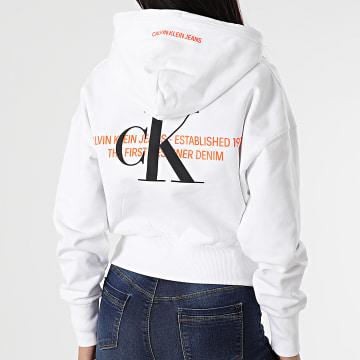 Calvin Klein - Sweat Capuche Femme 6351 Blanc