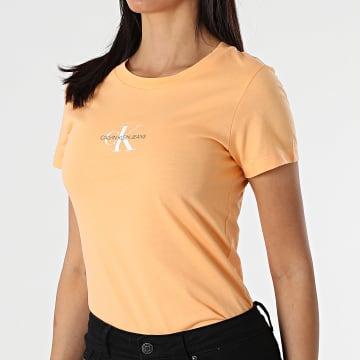 Calvin Klein - Tee Shirt Femme Monogram Classic 6577 Orange