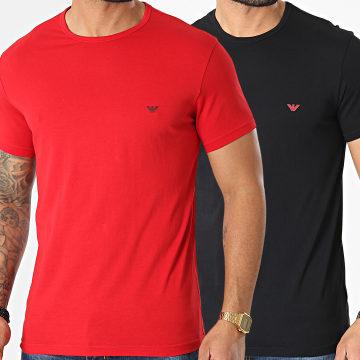 Emporio Armani - Lot De 2 Tee Shirts 111267-1P722 Rouge Noir