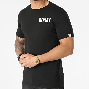 Replay - Tee Shirt Poche M3408-23156G Noir