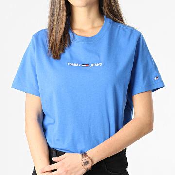 Tommy Hilfiger - Tee Shirt Crop Femme BXY Linear 0057 Bleu Azur