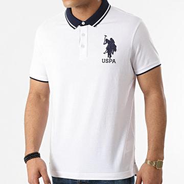 US Polo ASSN - Polo Manches Courtes USPA Double Horse Blanc