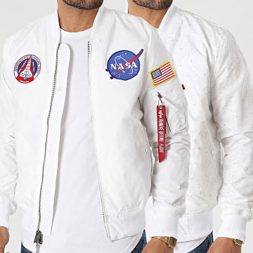 Alpha Industries - Bomber Réversible MA-1 TT NASA Ecru