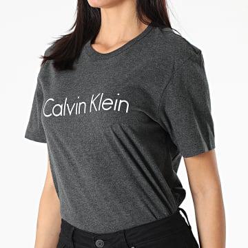 Calvin Klein - Tee Shirt Femme QS6105E Gris Anthracite Chiné