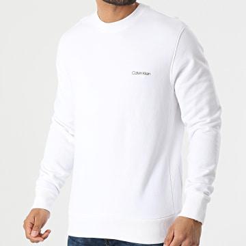 Calvin Klein - Sweat Crewneck Small Chest Logo 7031 Ecru