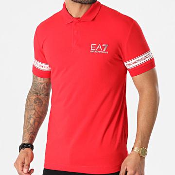 EA7 Emporio Armani - Polo Manches Courtes 3KPF04-PJ03Z Rouge