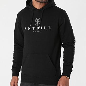 Anthill - Sweat Capuche Ant 2021 Sleeve Noir Blanc