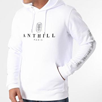 Anthill - Sweat Capuche Ant 2021 Sleeve Blanc Noir