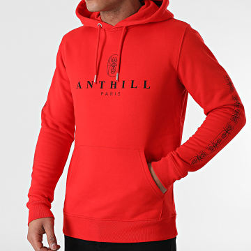 Anthill - Sweat Capuche Ant 2021 Sleeve Rouge Noir