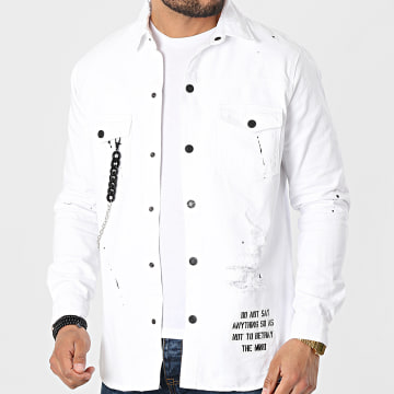 Black Needle - Veste Jean 3330 Blanc