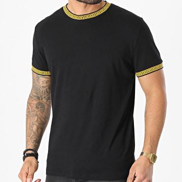 Brave Soul - Tee Shirt Renaissance Fisk Noir Jaune