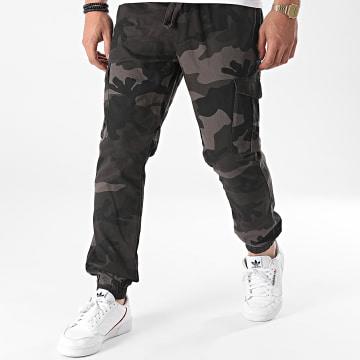 Brave Soul - Jogger Pant Fine Gris Anthracite Camouflage