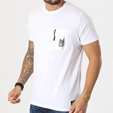 Brave Soul - Tee Shirt Poche Tucci Blanc