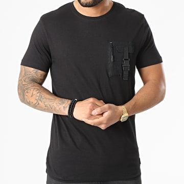 Brave Soul - Tee Shirt Poche Tucci Noir