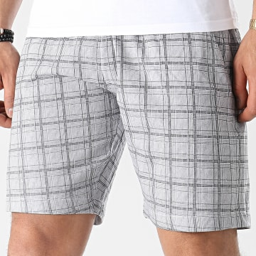 Brave Soul - Short A Carreaux Jenson Check Gris