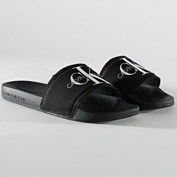 Calvin Klein - Claquettes Slide Monogram 0061 Noir