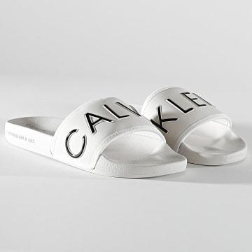 Calvin Klein - Claquettes Femme Slide Padded 0131 Beige
