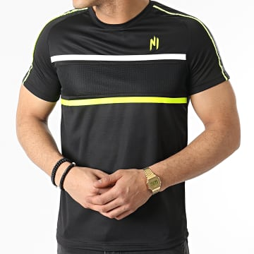 NI by Ninho - Tee Shirt Diamond Noir Jaune Fluo