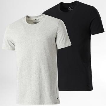 Nike - Lot De 2 Tee Shirts KE1010 Noir Gris Chiné