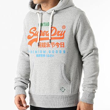 Superdry - Sweat Capuche Vintage Logo Tri M2011051A Gris Chiné