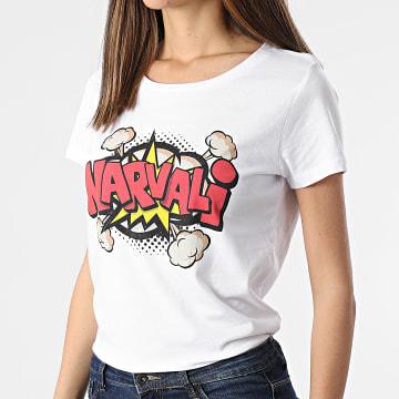 Swift Guad - Tee Shirt Femme Narvalo Comic Bubble Blanc