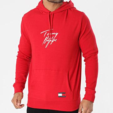 Tommy Hilfiger - Sweat Capuche Logo Signature 2191 Rouge