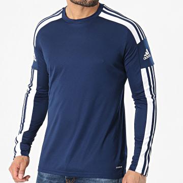 Adidas Performance - Tee Shirt Manches Longues A Bandes Squad 21 GN5790 Bleu Marine