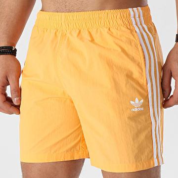 Adidas Originals - Short De Bain A Bandes GN3525 Orange