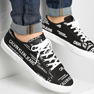 Calvin Klein - Baskets Vulcanized Sneaker Laceup AOP 0077 Black