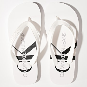 Calvin Klein - Tongs Femme Beach Sandal Monogram 0098 Bright White