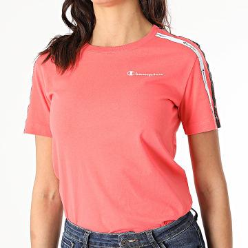 Champion - Tee Shirt Femme A Bandes 113086 Rose