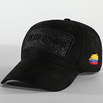 Skr - Casquette Plata O Plomo Suede Noir