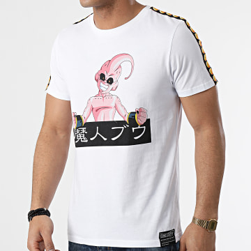 Dragon Ball Z - Tee Shirt A Bandes Buu Name Front Blanc