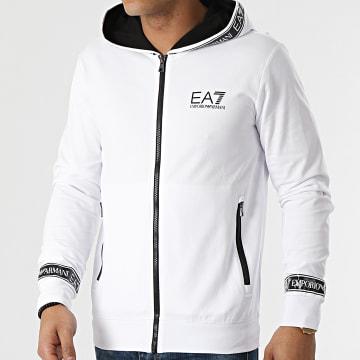 EA7 Emporio Armani - Sweat Zippé Capuche 3KPM25-PJ05Z Blanc