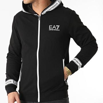 EA7 Emporio Armani - Sweat Zippé Capuche 3KPM25-PJ05Z Noir
