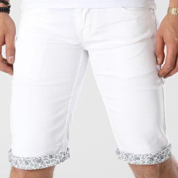 Mackten - Short Jean JS533 Blanc
