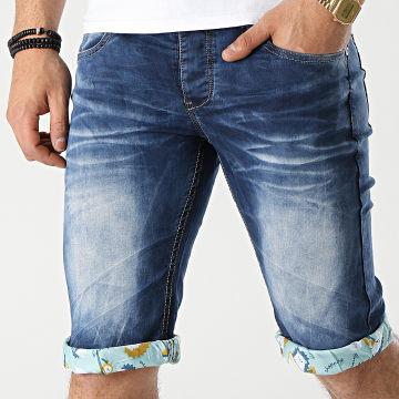 Mackten - Short Jean PZ-2276 Bleu Denim