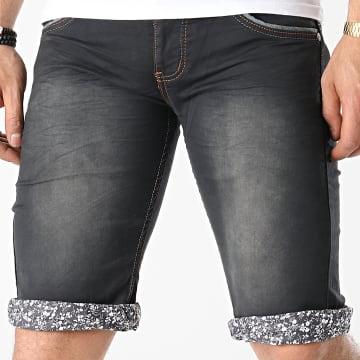 Mackten - Short Jean Slim JS139 Noir