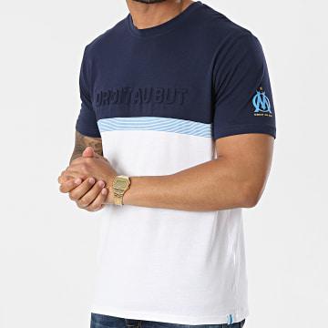 OM - Tee Shirt M20071C Blanc Bleu Marine