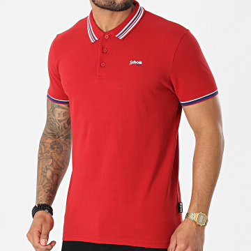 Schott NYC - Polo Manches Courtes Henry Rouge